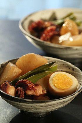 天然だしパックで作る蛸と大根と卵の旨煮
