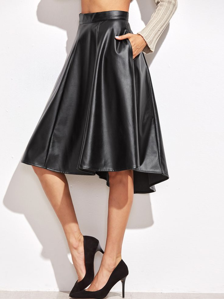Shop Black Faux Leather Asymmetric Paneled Skirt online. SheIn offers Black Faux Leather Asymmetric Paneled Skirt & more to fit your fashionable needs.