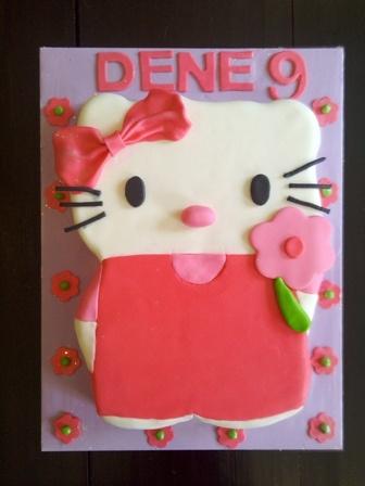 2D Hello Kitty Cake