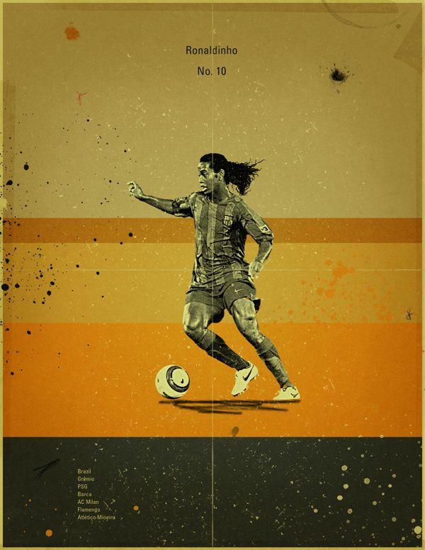 Famous Footballers 2 by Jon Rogers, via Behance #soccer #poster