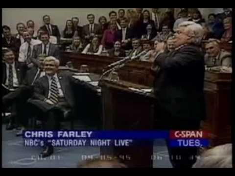 Time Chris Farley Visited Congress as Newt Gingrich