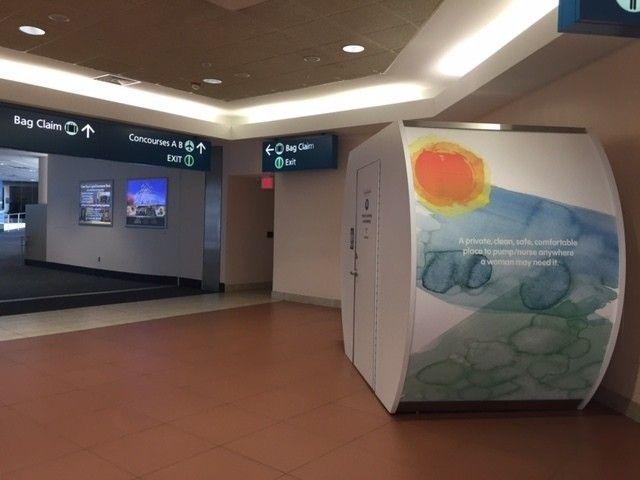 Mamava lactation suite in Palm Beach International (PBI) Airport!