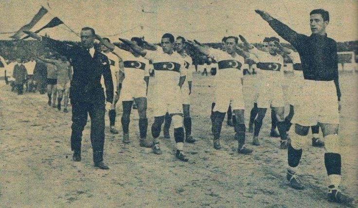 Turkey's national football team during the Olympic games in Germany. (1936) [960 x 557]