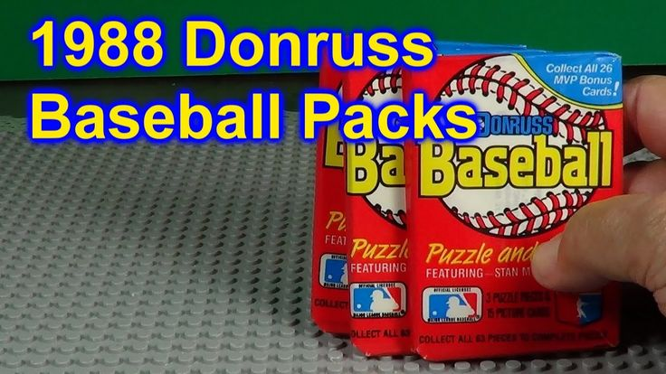 1988 donruss baseball opening 3 packs of cards who did i