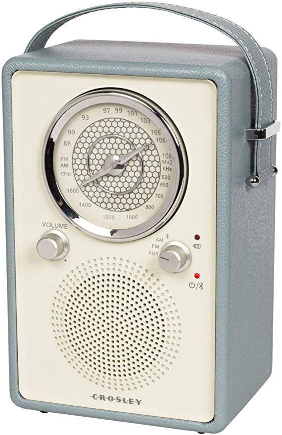 Crosley CR3034A-TN Mockingbird Vintage Portable AM//FM//Bluetooth Radio,