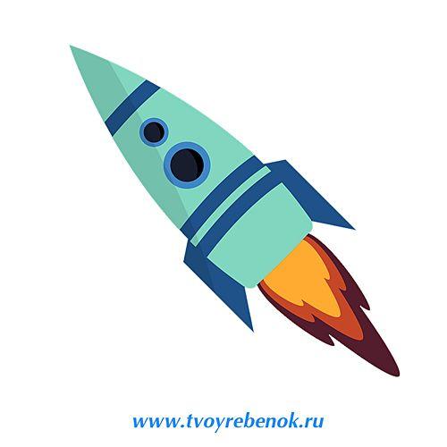 Трафарет ракеты для 3д ручки