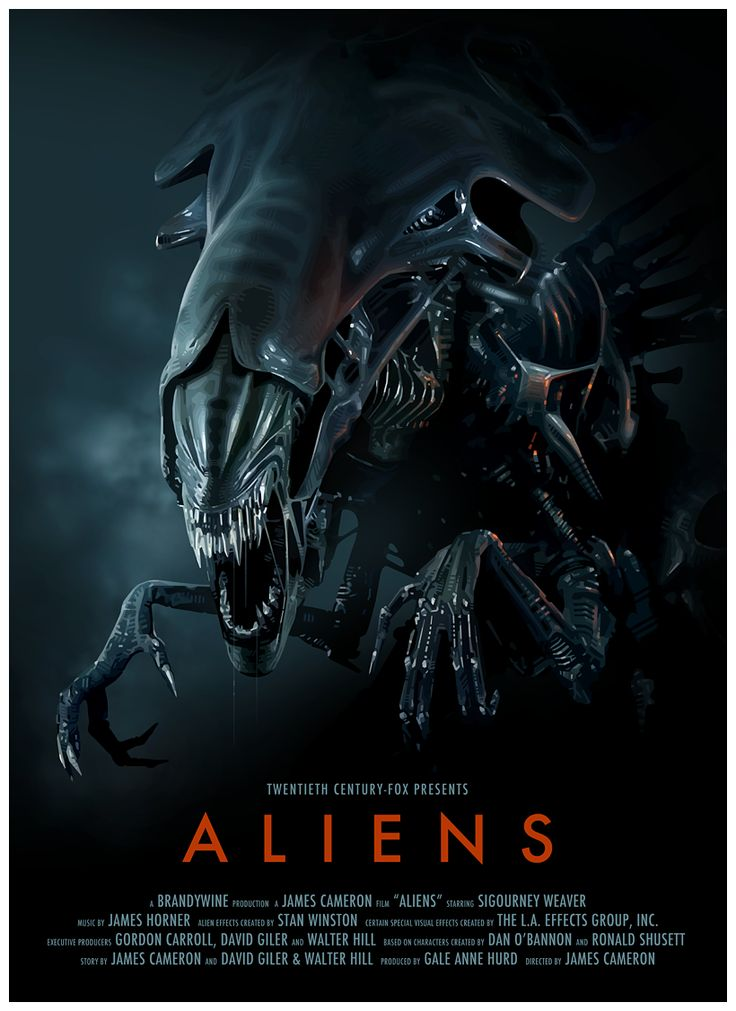 Aliens Poster - Created by Brian Taylor