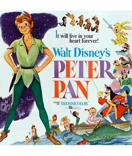 Peter Pan Disney animated movie poster Disney classic cartoon poster the decorative painting DSN43-Taobao