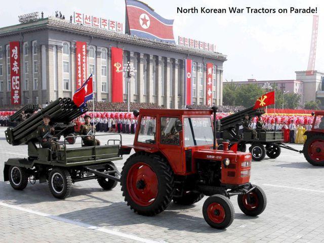 STRANGE МЕЖДУНАРОДНАЯ ВОЕННАЯ ТЕХНИКА - северокорейский ТРАКТОРЫ Тяговая гранатометами НА ПАРАД!