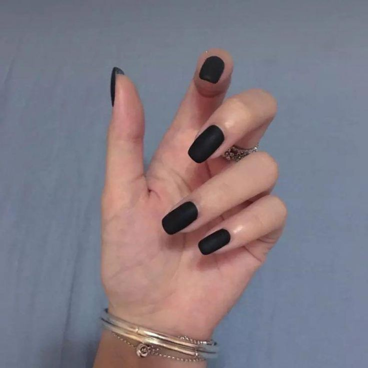 30 ATTRACTIVE MATTE BLACK NAIL IDEAS FOR 2018  – face stuff