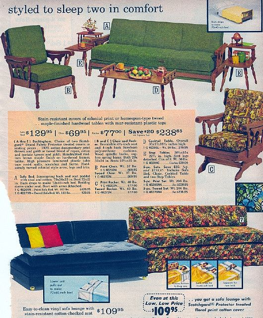 1971 Sears  Catalog. OMG I just realized where my grandmother got her den furniture. I still own the top set. Every piece of it. All from Sears. Wow.