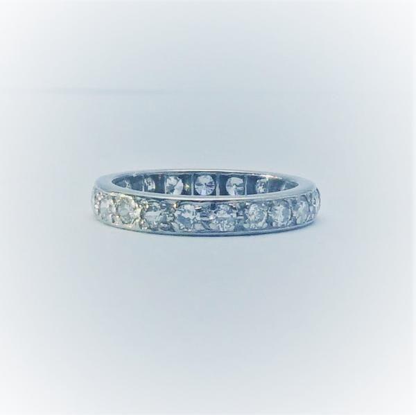Full Set Diamond Eternity Platinum Ring
