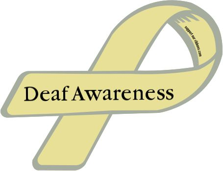 deaf awareness custom ribbon deaf awareness