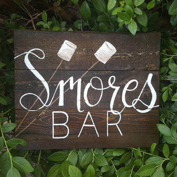 Smores Bar Smores Sign Smores Wedding Favors Smores Tags