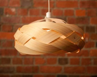 "Items similar to Boule 9"" Wood veneer lamp on Etsy"