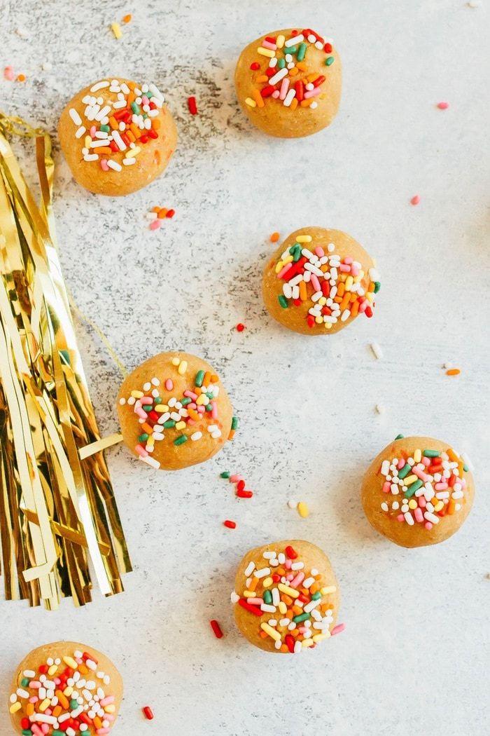 Healthy Vanilla Cake Balls Recipe Cake Pop Recipe Protein Cake Vanilla Cake