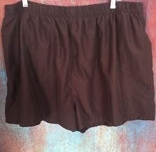 Croft And Barrow Plus Size Womens 22W Brown Swim Shorts / Exercise Bottoms 75869
