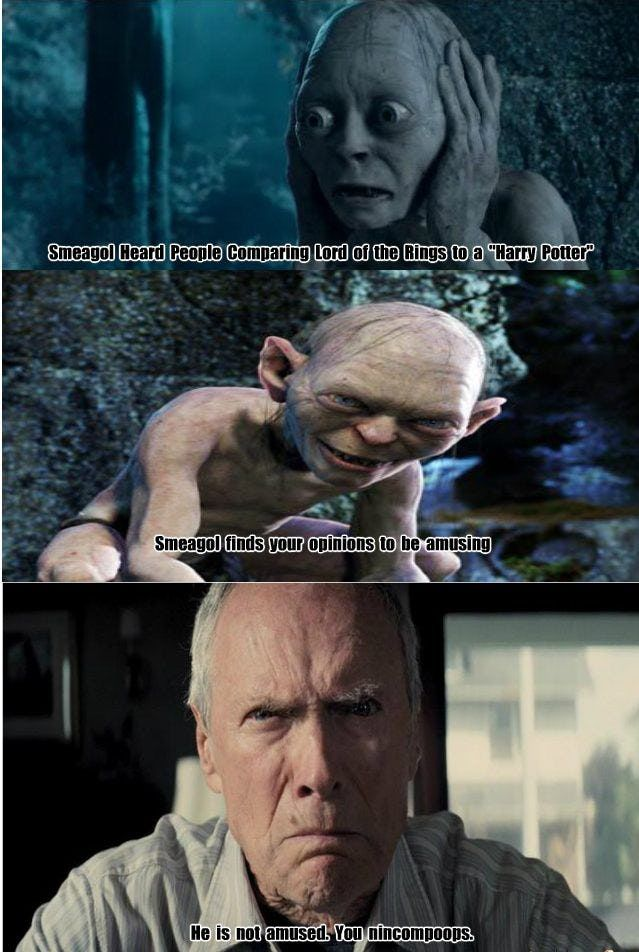 36 Harry Potter Vs Lord Of The Rings Memes That Might Start A War Lord Of The Rings Harry Harry Potter