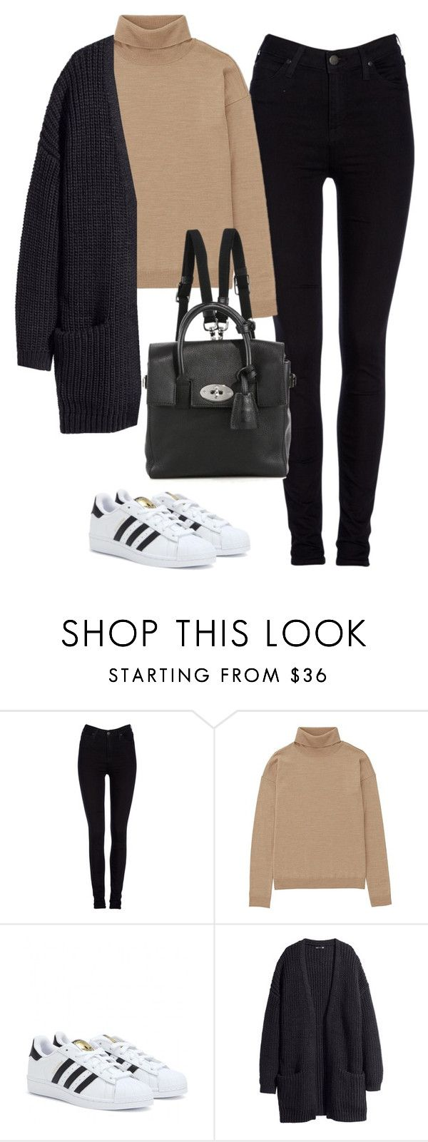 """Untitled #470"" by christyandnef on Polyvore featuring Lee, Uniqlo, adidas, H&M, Mulberry, women's clothing, women, female, woman and misses"