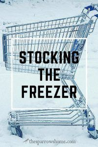 Stock the freezer for quick meal prep