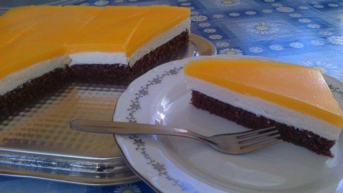 Tvarohový koláč s pomerančovou želatinou | NejRecept.cz