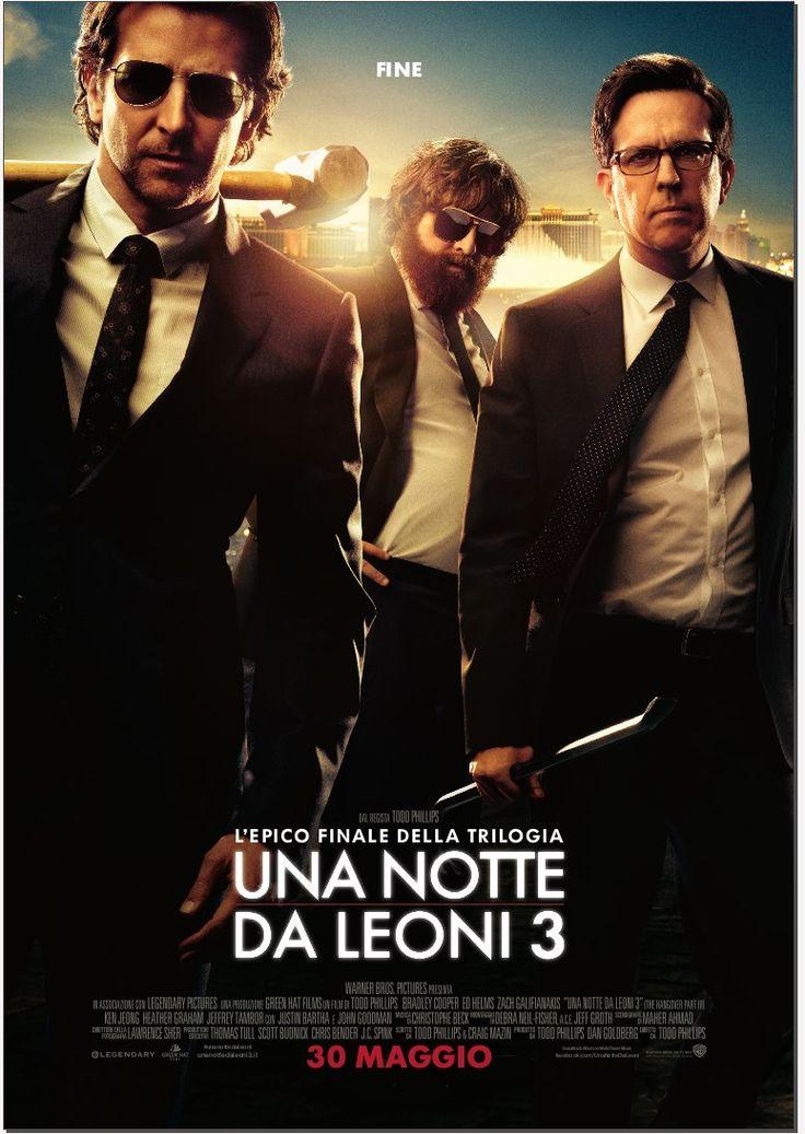 Bradley Cooper, Ed Helms e Zach Galifianakis nel poster italiano di Una Notte da Leoni 3