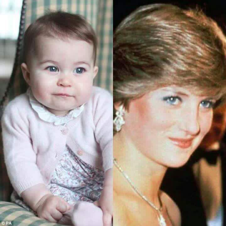 Look at the resemblance of Princess Charlotte