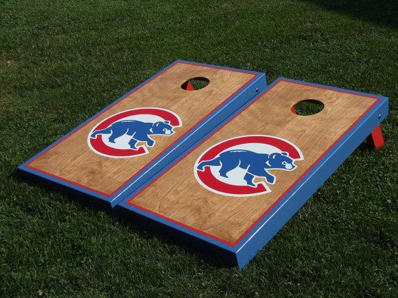 25 Best Chicago Cubs Cornhole Boards Images On Pinterest