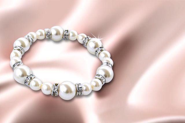 Pearl Bracelet with Swarovski Elements