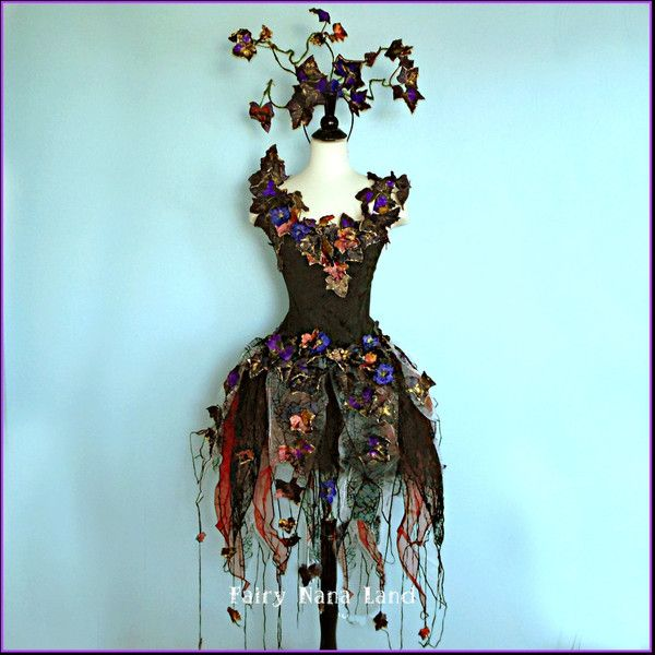 Faerie Costume - size small - The Enchantingly Evil Dark Faerie -... ($425) ❤ liked on Polyvore featuring costumes, dresses, adult black widow costume, gothic fairy costume, adult halloween costumes, goth costume and fairy halloween costumes