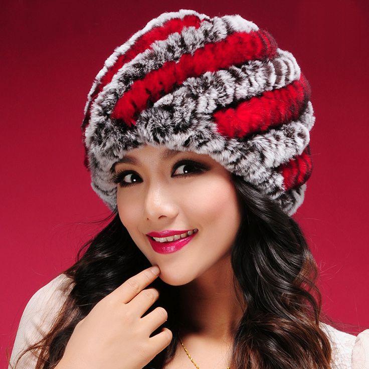 Women Winter Fur Hats High Quality Natural Rex Rabbit Fur Beanie Wholesale Retail Winter Rabbit Fur Hats ** Read more  at the image link.