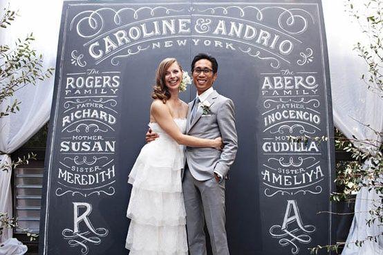 Fotos de la mejor decoración para bodas campestres. Decoraciones para bodas con letreros muy originales y creativos para el jardines y parque y para salones