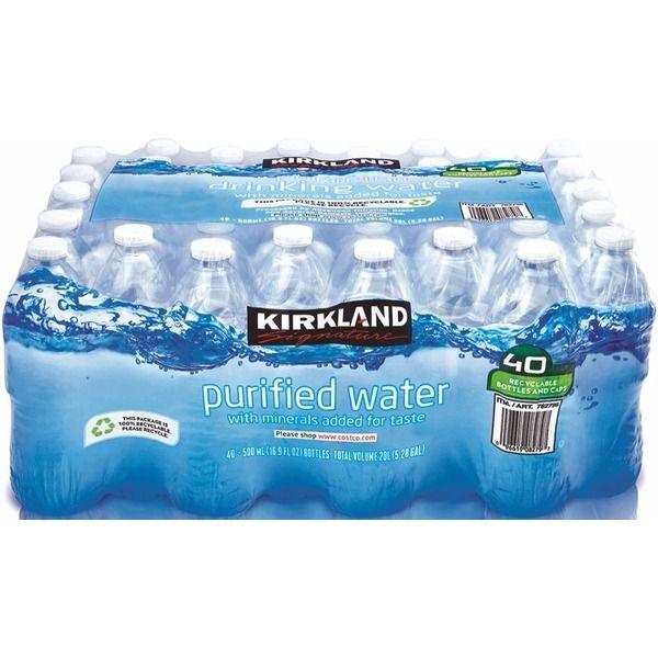 Kirkland Signature Premium Bottled Drinking Water 16 9 Oz Kirkland Food Natural Spring Water Costco Delivery
