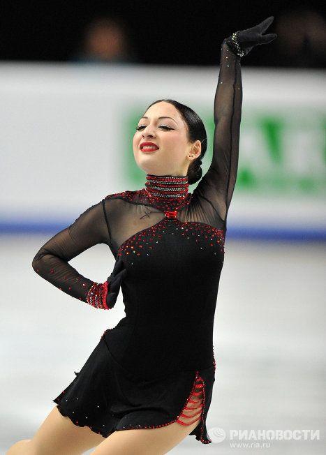 Elene Gedevanishvili -+ Black Figure Skating / Ice Skating dress inspiration for Sk8 Gr8 Designs