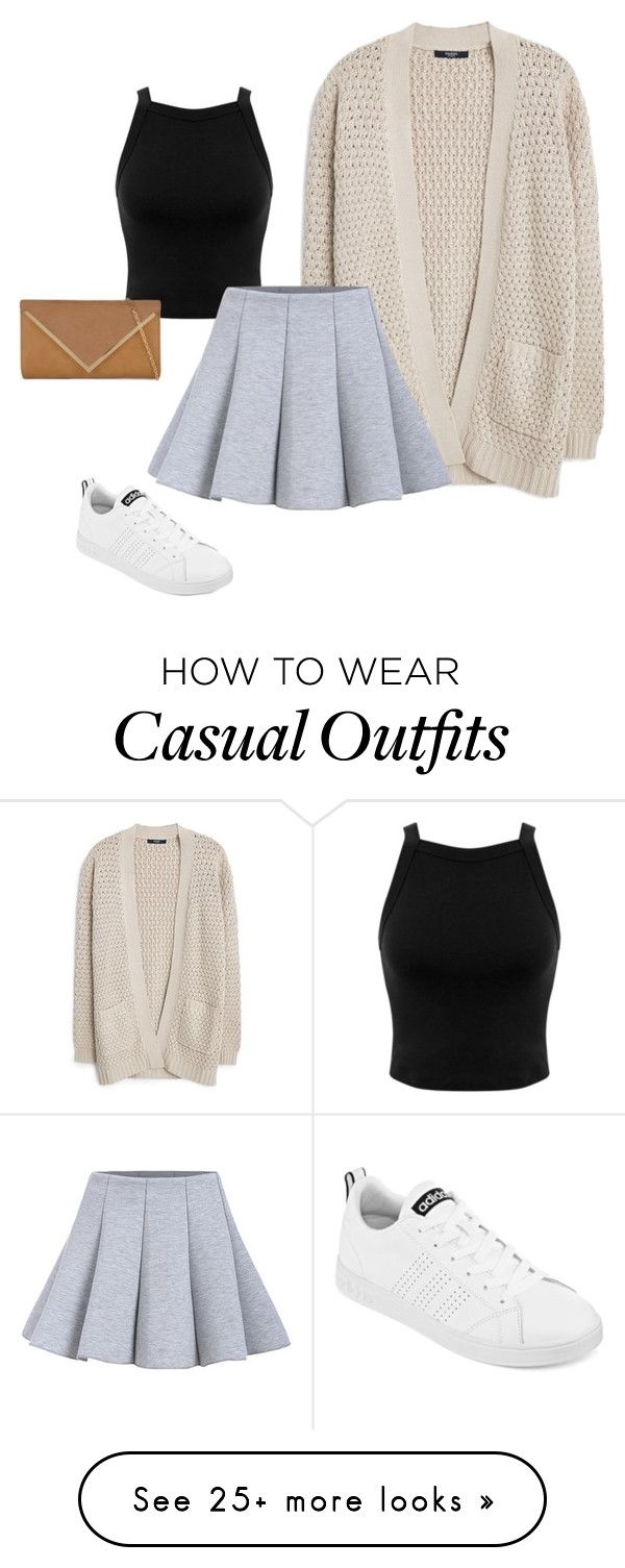 """Casual"" by sara-mitchell-0409 on Polyvore featuring MANGO, Miss Selfridge, adidas and ALDO"