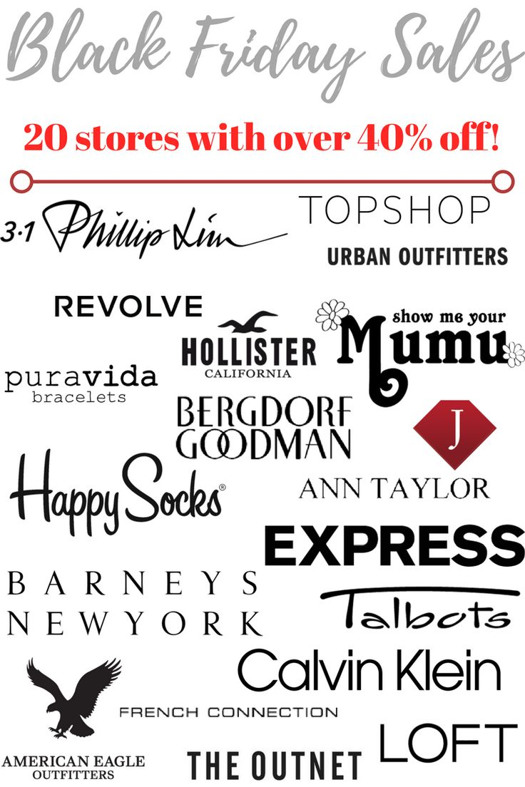 Black Friday Sales 2016: Stores offering 40% off or more!