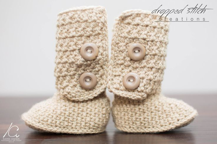 "Double Button Baby ""Ugg' inspired booties"