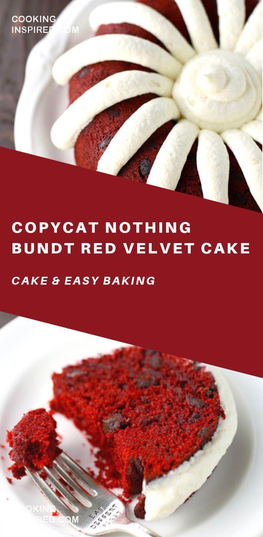 Copycat nothing bundt red velvet cake in 2020 dessert