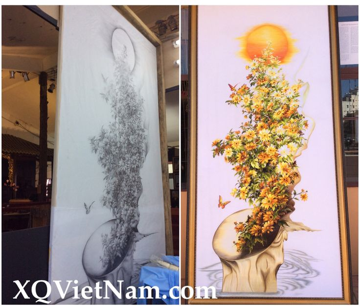 XQ VietNam embroidery Sunflower Embroidery
