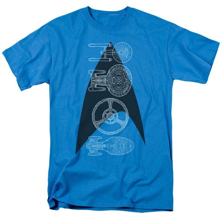 Star Trek Line of Ships T-Shirt