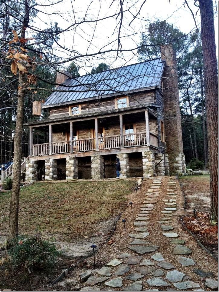Rent this vacation cabin out side of Guntersville, Alabama for the most peaceful, relaxing getaway you'll ever find.   Eagles Nest at High Falls sits on top of a mountain without another house in sight.  Amazing 177 year old cabin has been restored to perfection.  Click the photo to take the full tour!