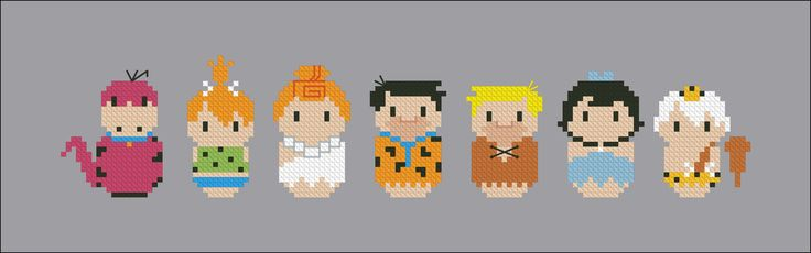 The Flintstones - Mini People - Pattern by CloudsFactory