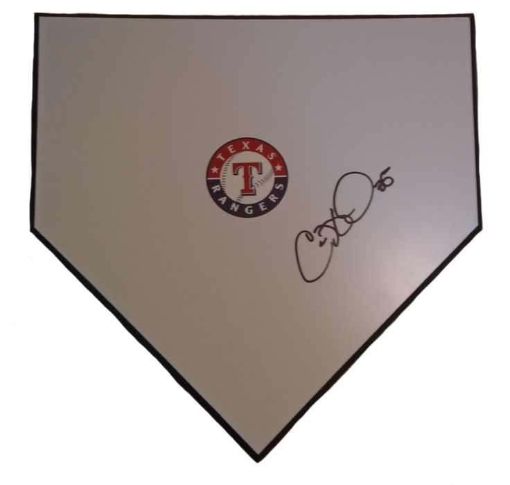 Texas Rangers Cole Hamels signed wooden baseball home plate w/ proof photo. Proof photo of Cole signing will be included with your purchase along with a COA issued from Southwestconnection-Memorabilia, guaranteeing the item to pass authentication services from PSA/DNA or JSA. Free USPS shipping. www.AutographedwithProof.com is your one stop for autographed collectibles from Dallas sports teams. Check back with us often, as we are always obtaining new items.