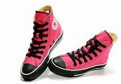 Pink and black high tops awesome