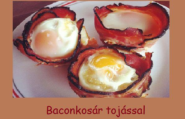 Éjjel-nappal paleo: Baconkosár tojással