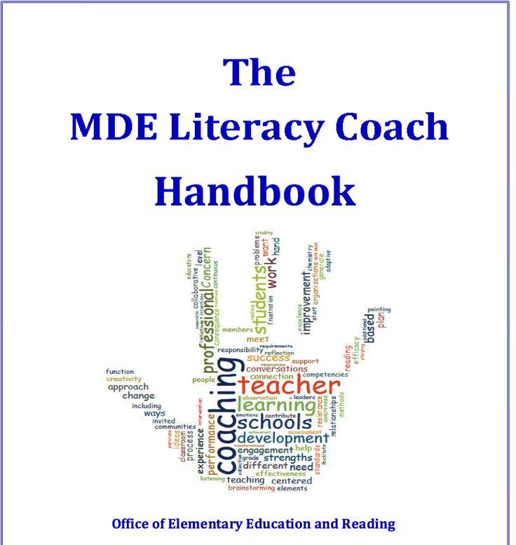 Ms dept of ed literacy coach handbook literacy coaching