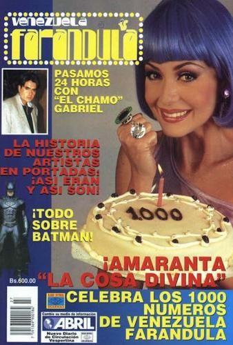&#9829 Gaby em TODO POR TU AMOR - 1997 como Amaranta Rey ( La cosa divina! ). DESTAQUE DE REVISTA!! <BR> <BR>*~* Gabriela na novela: <BR> <BR>Foi com esse personagem coadjuvante que a Gaby conseguiu se fazer notória e finalmente ter um papel de destaque na TV em La usurpadora (Televisa - 1998). Gaby recebeu vários prêmios por sua atuação na novela. Amaranta Rey era uma personagem cômica e isso deu muito destaque pra Gabyta, que se virou perfeitamente nessa faceta, provando depois que é uma…