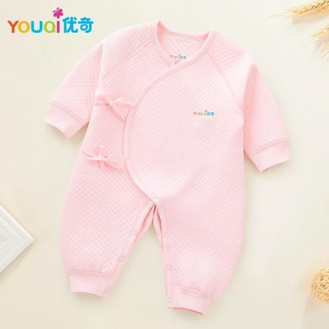 21485745a YOUQI Newborn Rompers Winter Warm Pajamas Baby Girls Clothes Boys Jumpsuit  Clothing Spring Toddler Costumes Clothes For Newborns