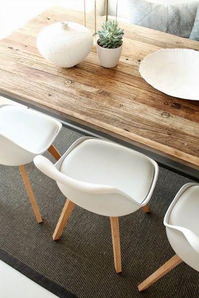 Mesa rústica para el comedor | Decorar tu casa es facilisimo.com