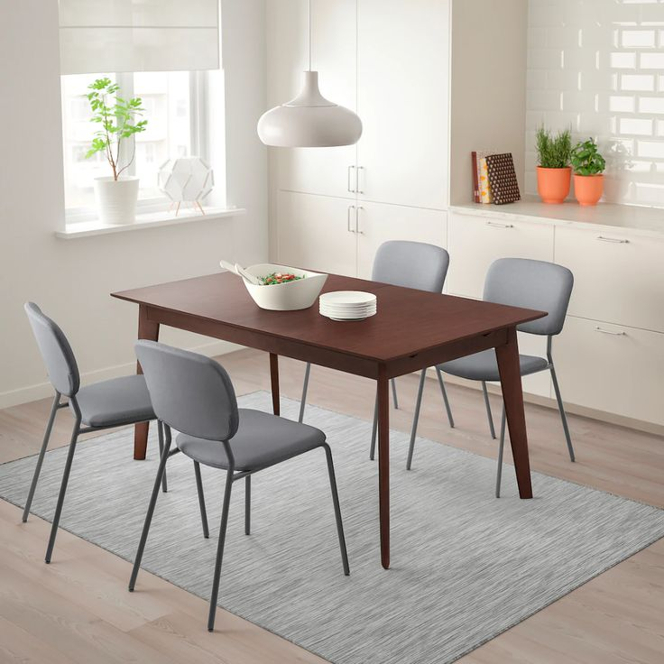 Barkarby Extendable Table Walnut Veneer 63 86 5 8x35 3 8 In 2020 Extendable Dining Table Dining Table Brown